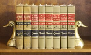 South Eastern Reporter 2d. 116 Vols. 28 feet shelf space
