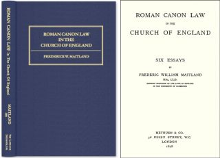 Roman Canon Law in the Church of England: Six Essays. Frederic William Maitland