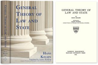 General Theory of Law and State. Translated by Anders Wedberg. Hans Kelsen, Anders Wedberg, trans., HARDCOVER.