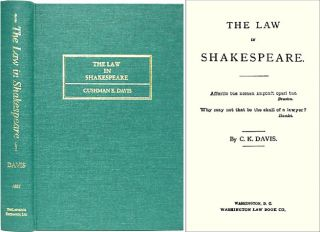 The Law in Shakespeare. C. K. Davis
