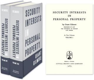 Security Interests in Personal Property. 2 Vols. Grant Gilmore