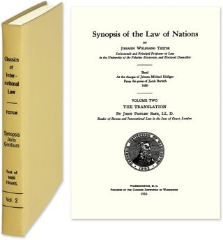 Synopsis of the Law of Nations. Johann Wolfgang Textor
