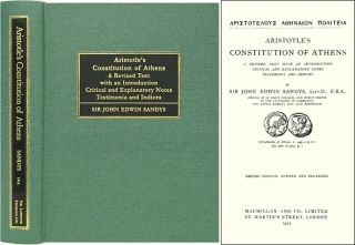 Aristotle's Constitution of Athens. A Revised Text with an. Sir John Edwin Sandys