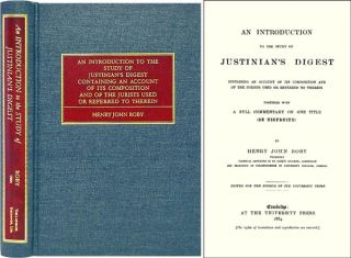 An Introduction to the Study of Justinian's Digest Containing an. Henry John Roby