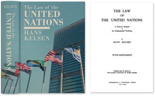 The Law of the United Nations. A Critical Analysis of Its. Hans Kelsen, HARDCOVER