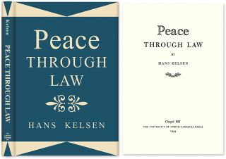 Peace Through Law. Hans Kelsen, HARDCOVER