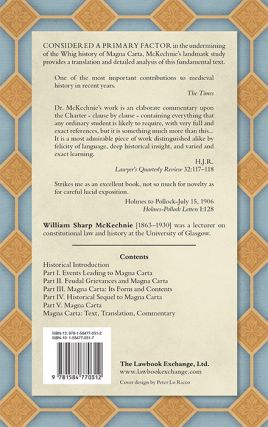 Magna Carta. A Commentary on the Great Charter of King John With an...