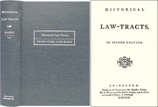 Historical Law-Tracts. The Second Edition. Henry Home Kames, Lord