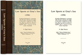 Law Sports at Gray's Inn (1594) Including Shakespeare's Connection. Basil Brown