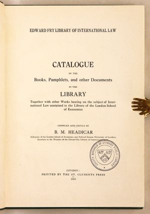 Catalogue of the Books, Pamphlets, And Other Documents in the Library