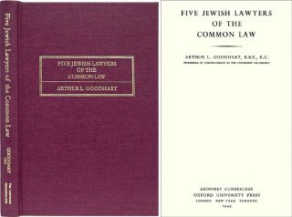 Five Jewish Lawyers of the Common Law. Arthur L. Goodhart