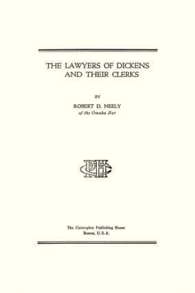The Lawyers of Dickens and Their Clerks