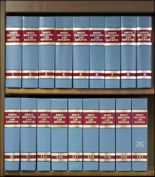Education Law Reporter West's. Vols. 1-121 (1982-1998) w/Digest 11 bks. West Publishing Co