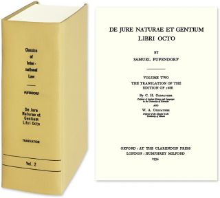 Of The Law Of Nature And Nations, Eight Books in 1 vol. English trans. Samuel von Pufendorf