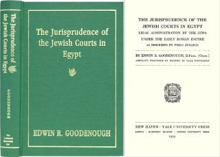 The Jurisprudence of the Jewish Courts in Egypt: Legal. Edwin R. Goodenough