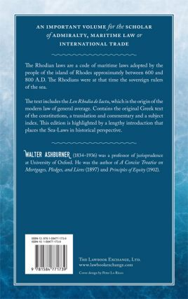 The Rhodian Sea-Law. Edited from the Manuscripts.