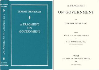 A Fragment on Government. Jeremy. F. C. Montague Bentham.