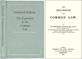 The Expansion of the Common Law. Sir Frederick Pollock