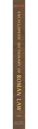 Encyclopedic Dictionary of Roman Law