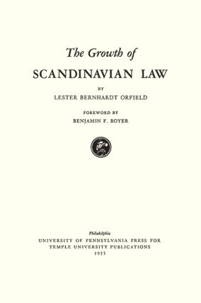 The Growth of Scandinavian Law