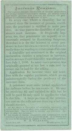 New Law About Horse Claims. Washington, circa 1883.