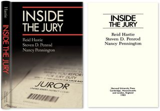 Inside the Jury. Reid Hastie, Steven D. Penrod.