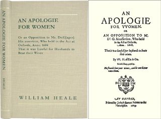 An Apologie for Women. Or an Opposition to Mr. Dr.G[ager] His. William Heale