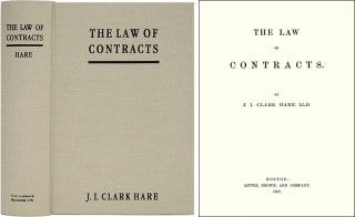 The Law of Contracts. ISBN 1584773111. John Innes Clark Hare