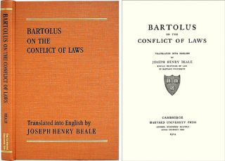 Bartolus on the Conflict of Laws. Joseph H. Beale.