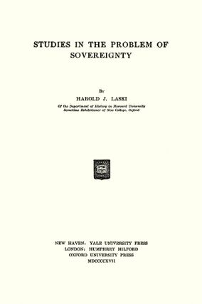 Studies in the Problem of Sovereignty