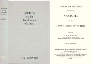 Aristotle on the Constitution of Athens [Athenaion Politeia] 3d rev ed. E. G. Kenyon, Aristotle.