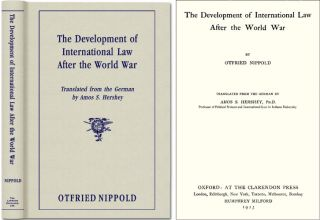 The Development of International Law after the World War. Otfried Nippold