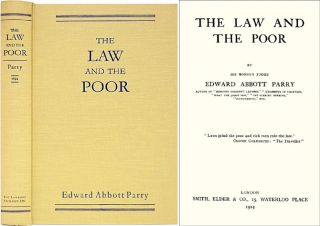 The Law and the Poor. Edward Abbott Parry