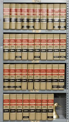 Federal Reporter 2d. 38 Vols. 7 linear feet shelf space. Thomson Reuters