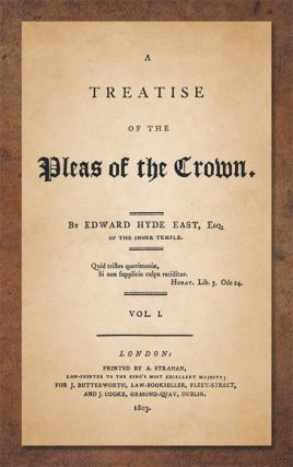 A Treatise of the Pleas of the Crown. 2 Vols.