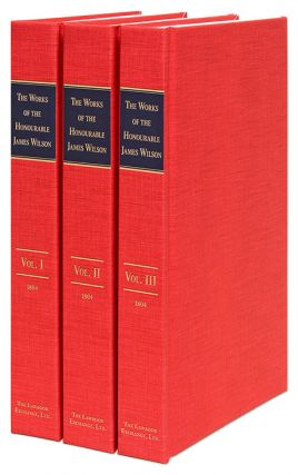 The Works of the Honourable James Wilson. 3 Vols. Complete set