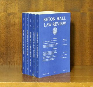 Seton Hall Law Review. Vols. 1 to 33 No.3 (1970-2003)