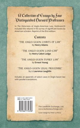 Essays in Anglo-Saxon Law