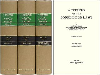 A Treatise on the Conflict of Laws. 3 Vols. 1st ed. Joseph H. Beale