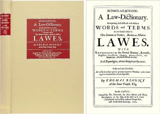 Nomo-Lexikon: A Law Dictionary. Interpreting Such Difficult and. Thomas Blount
