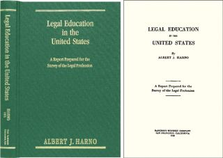 Legal Education in the United States: A Report Prepared. Albert J. Harno.