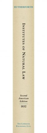 Institutes of Natural Law; Being the Substance of a Course of...