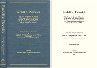 Bardell v. Pickwick: The Trial for Breach of Promise of Marriage. Charles Dickens, Percy Fitzgerald, Notes, Comm.