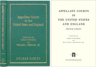 Appellate Courts in the United States and England. Delmar Karlen.