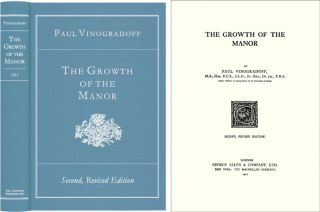 The Growth of the Manor. Sir Paul Vinogradoff
