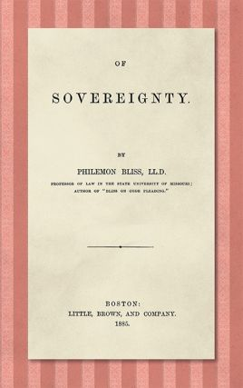 Of Sovereignty. Philemon Bliss