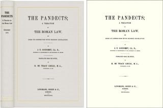 The Pandects: A Treatise on the Roman Law and its Connection with. J. E. Goudsmit, R. DeTracy Gould