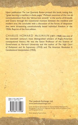 Constitutionalism: Ancient and Modern