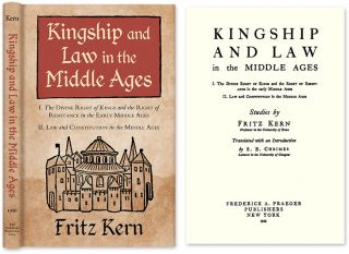 Kingship and Law in the Middle Ages: I. The Divine Right of Kings. Fritz Kern