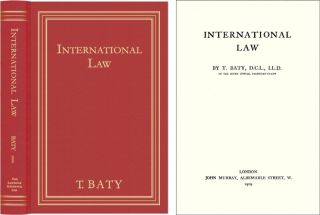 International Law. Thomas Baty